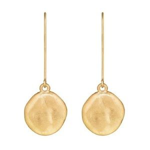 Gold Paillette Single Drop Earrings